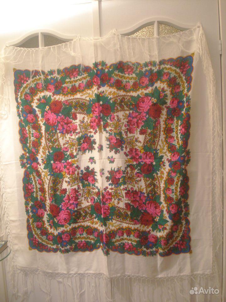 Павлово-посадская шаль платок новая.  Москва