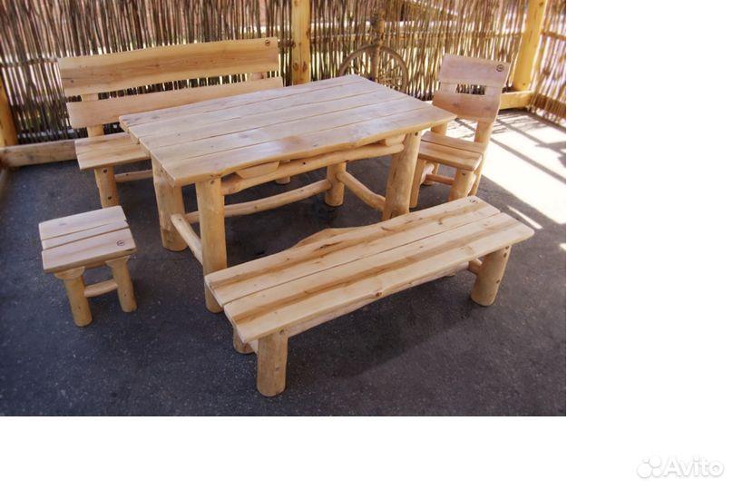 Набор мебели из дерева. Деревянная мебель ручной работы. 0.