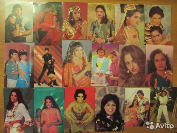 Индийские открытки с актерами 33