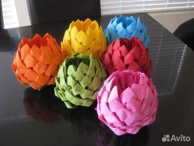 Цветы из салфеток своими руками для стола