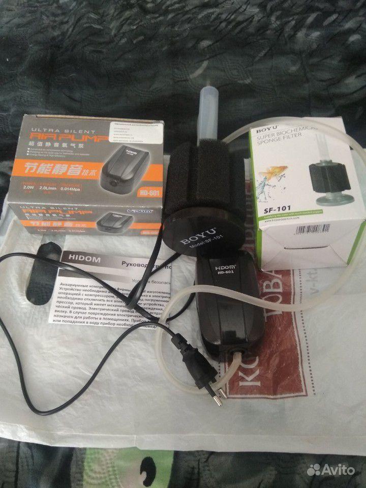 Аквариумный компрессор с фильтром купить на Зозу.ру - фотография № 2