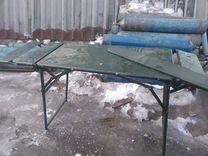 стол и стулья армейский полевой фото станок