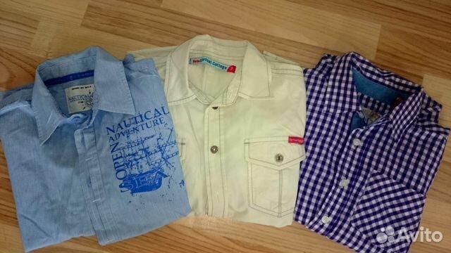 Стильные рубашки 6-8 лет