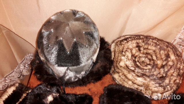 шапка берет варежки из вязаной норки Festimaru мониторинг