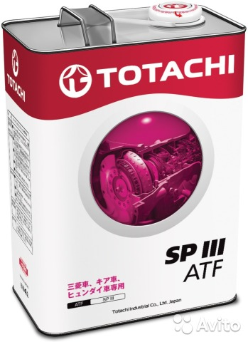 Totachi ATF SP III, 4 литра— фотография №1