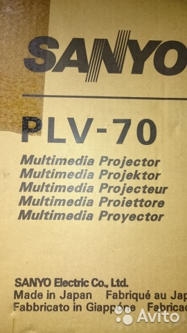 Проектор Sanyo PLV 70 купить в Санкт-Петербурге на Avito