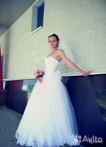 Платье свадебное (Италия ) рост 170 см + каблук 89122460007 купить 1