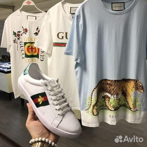 Футболка Gucci с тигром (картина) 2018 SS купить в Москве на Avito ... a15cc456c71