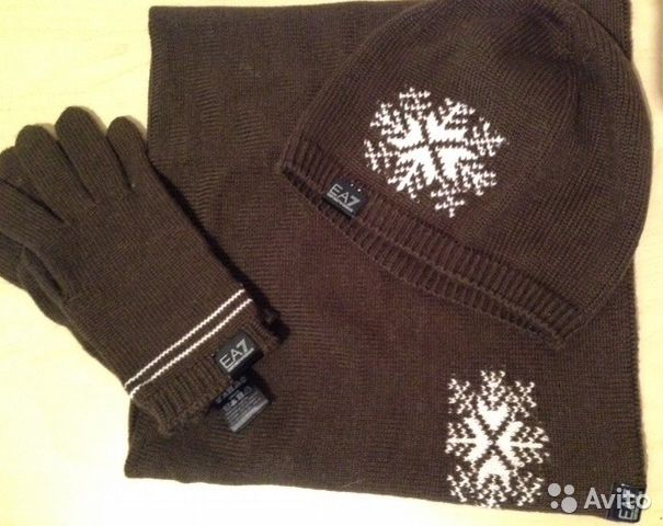 Emporio Armani шапка, перчатки, шарф купить в Москве на Avito ... aa668219f02