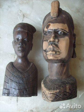Две статуэтки. Черное дерево. Африка 70 - е года 89087998445 купить 1