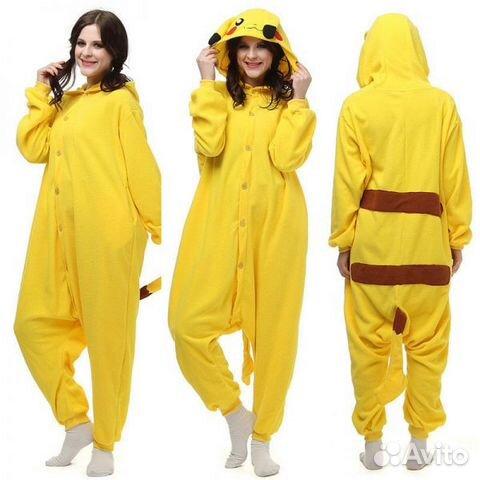 Кигуруми пикачу костюм пижама  902bd41bee6fc