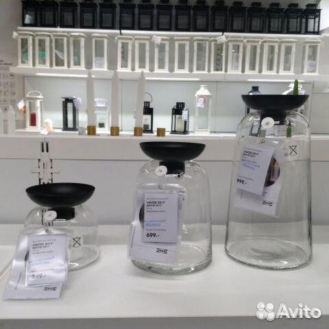 вазаподсвечник для греющей свечи винтер 2017 икеа купить в москве