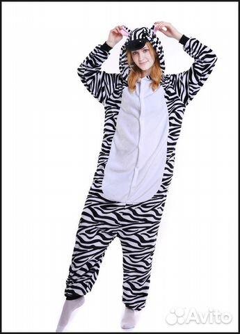 Кигуруми зебра на рост 140-158  a81f25ef46e14