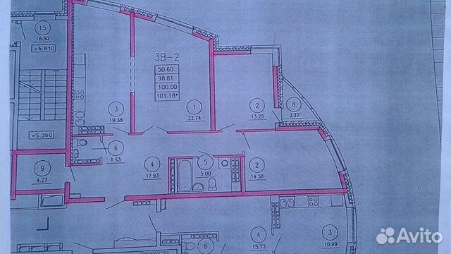 3-к квартира, 108 м², 23/26 эт.