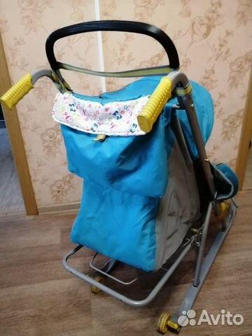 Детские санки-коляска  купить 3