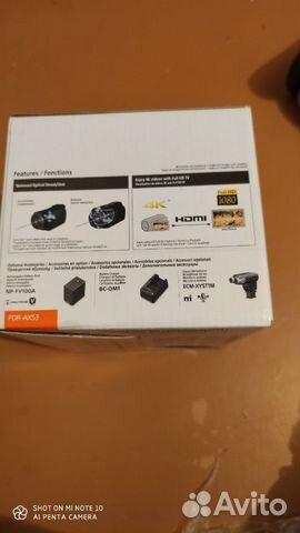 Sony FDR-AX53 4K видео  купить 10