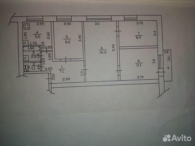 4-к квартира, 60.5 м², 4/5 эт.  89038948046 купить 9