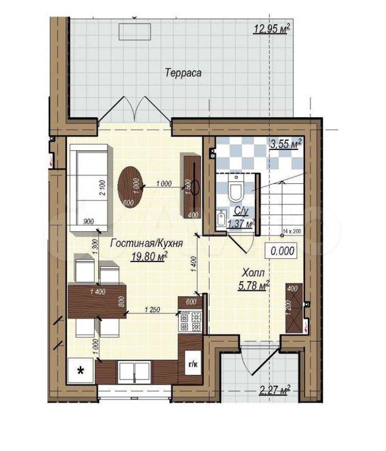 Таунхаус 81 м² на участке 3 сот.  89052457128 купить 3