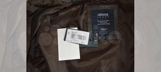 51607606e460 Armani Jeans новая кожаная куртка оригинал с бирка купить в  Санкт-Петербурге на Avito — Объявления на сайте Авито
