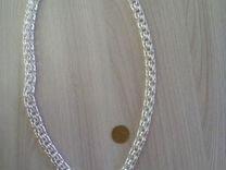 Серебряная цепь Бисмарк 90 гр 55см