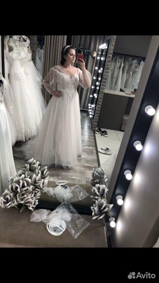 Платье свадебное 48-50 размер  89204772286 купить 8