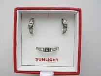 Серебро - комплект: серьги + кольцо (925)