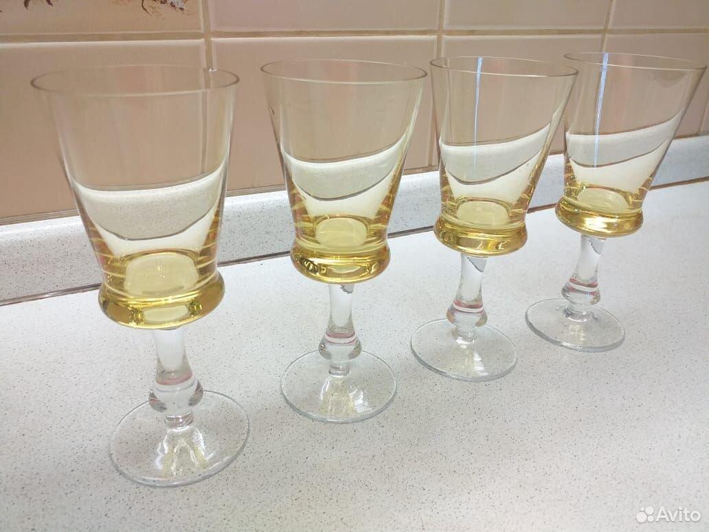Стеклянные рюмки, бокалы из цветного стекла СССР  89807548898 купить 2
