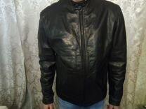 Мото куртка кожанная banana republic