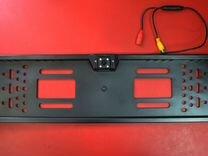 Камера заднего вида на рамке черная тип 2