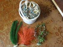 Искусственные растения и цветной грунт