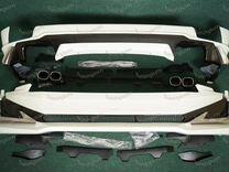 Обвес Modellista Prado 150 с 18г 2 трубы бел. перл