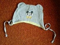 Шапочка трикотажная на ребёнка 6-9 месяцев