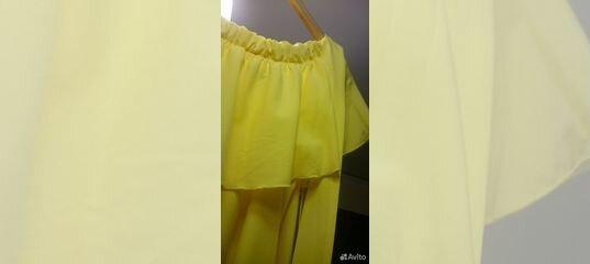 43caba7abce Жёлтое платье в пол с воланами купить в Санкт-Петербурге на Avito —  Объявления на сайте Авито