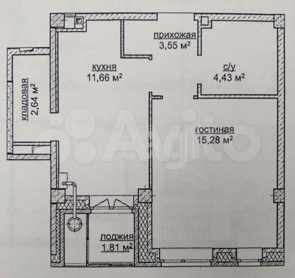 1-к квартира, 39 м², 4/14 эт.  89512030391 купить 5