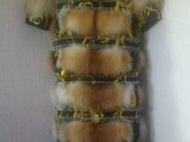 Шуба пальто лиса трансформер